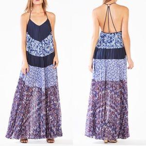 NWT BCBG Max Azria 'Juna' Pleated Maxi Dress